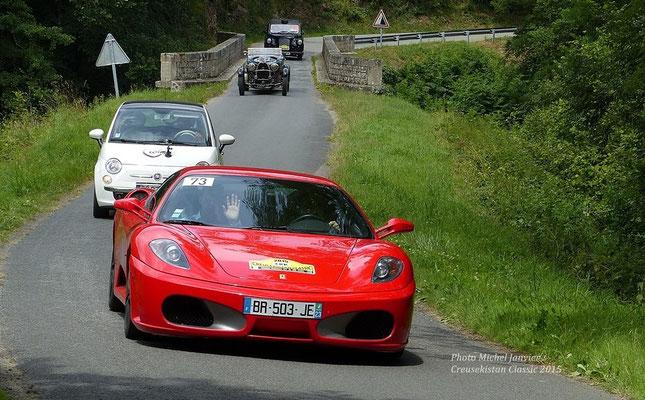 """Jean-Louis """"Doc"""" Vaurs sur Ferrari F430."""