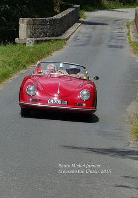 La Porsche 356 1600 de l'équipage Daniel Blanchard et André Delalande.