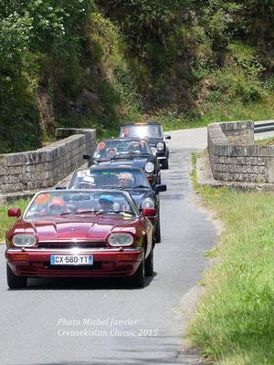 La Jaguar XJ-S 4.0 de l'équipage Hervé et Laure-Isabelle Touny.