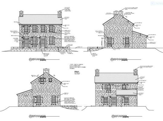 Architectural drawing by Joseph Linek, Linekstudio, Newbury, OH