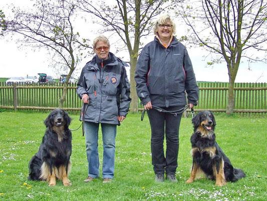 Mit meinem Bruder Irrwisch und seine Besitzerin Brigitte.