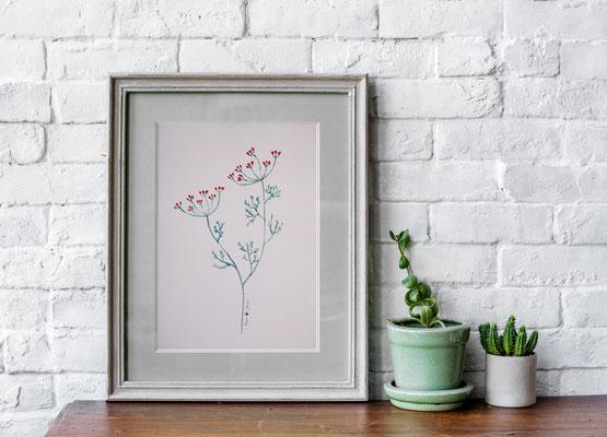 Aquarell – Wildflower