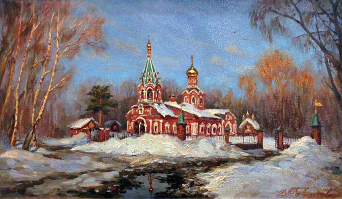 """Виктория Савинова """"Март в Красногорске"""" х,м 2012г."""