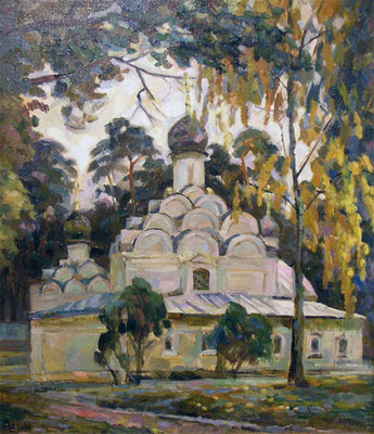 """Александр Закальский """"Храм в Архангельском"""" х,м 2008г."""