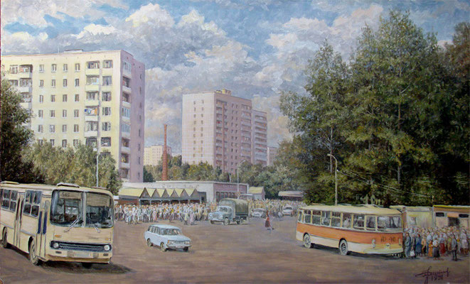 "Решетников П.Н. ""Рыночная площадь"" х,м 1991г."