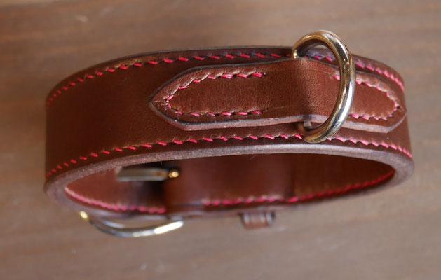 collier chien cuir artisanal
