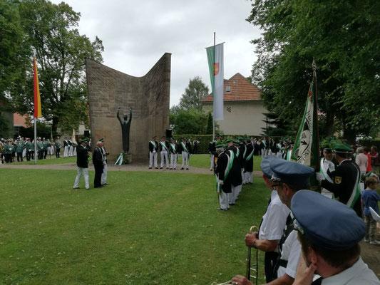 Begleitung des Salzkottener Schützenfestes 2017 durch den Musikverein Jugendlust Scharmede