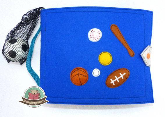 Spielbuch für Jungs, Zählen lernen mit Ballsportarten