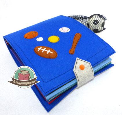 Spielbuch aus Filz mit 10 Ballsportarten