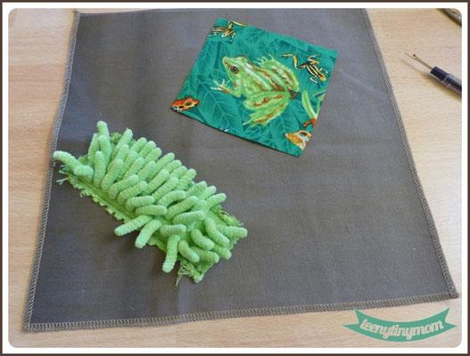 für die grüne Seite sind der Frosch und der Putzlappen als Start
