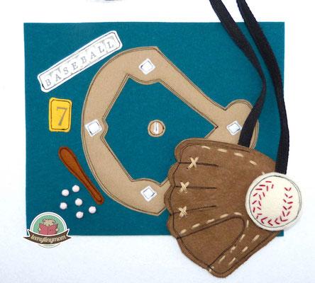 Quiet book  Spielbuch Nähanleitung Baseball