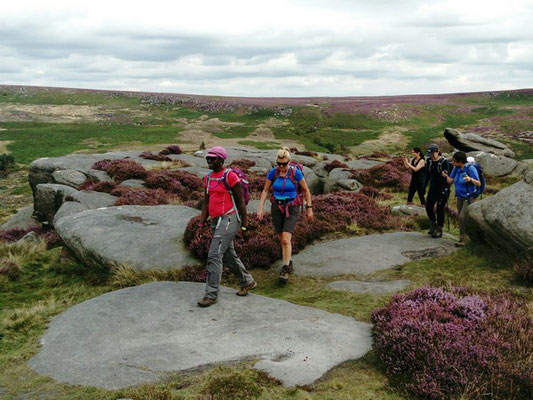 Challenge walk on Kinder Scout