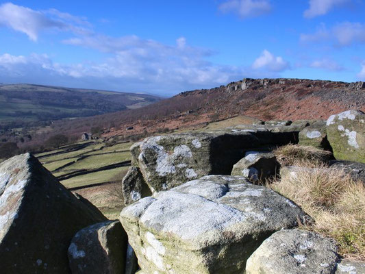 View of Curbar Edge from Baslow Edge