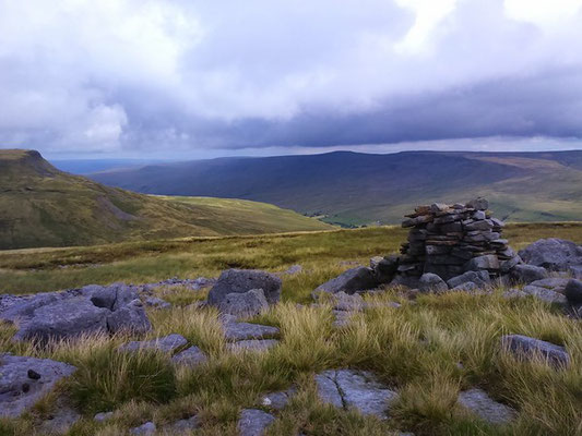 View down the Mallerstang Valley and to Mallerstang Edge from Swarth Fell