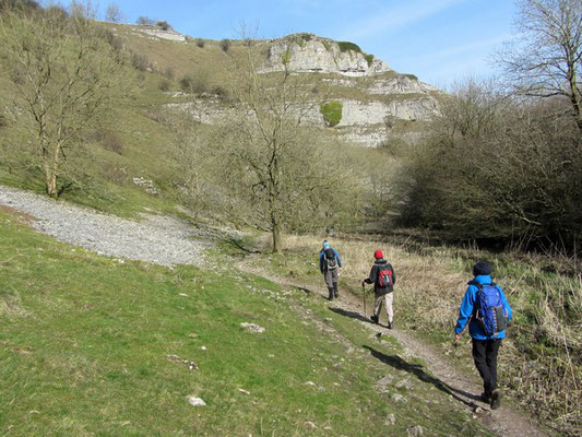 Walking down Lathkill Dale