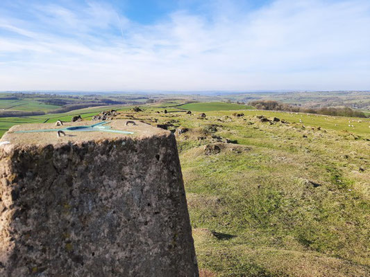 Harborough Rocks trig point