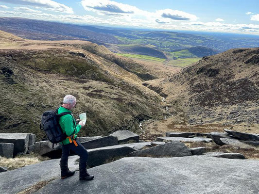 Map reading on Bleaklow