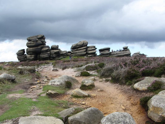 The Wheel Stones on Derwetn Edge
