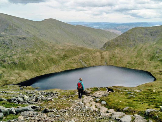 Grisedale Tarn on the St Sunday Crag guided walk