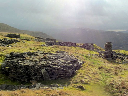 Old quarry at Mallerstang Edge