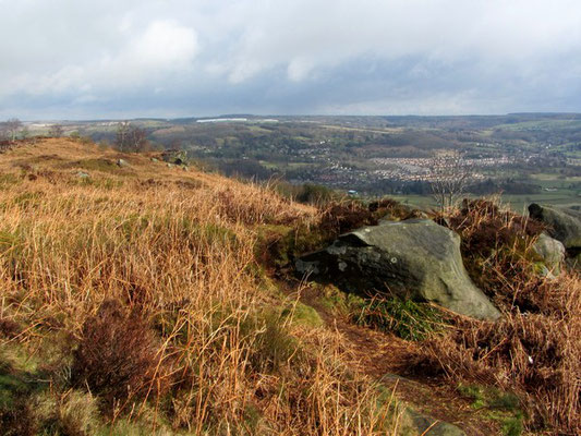 View over the Derwent Valley from Stanton Moor