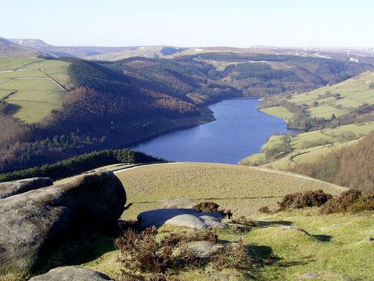 View of Ladybower Reservoir from Derwent Edge