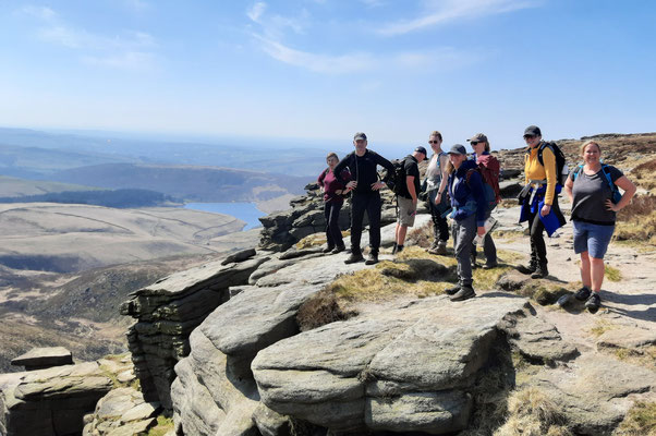 Walkers on the edge of KInder Scout