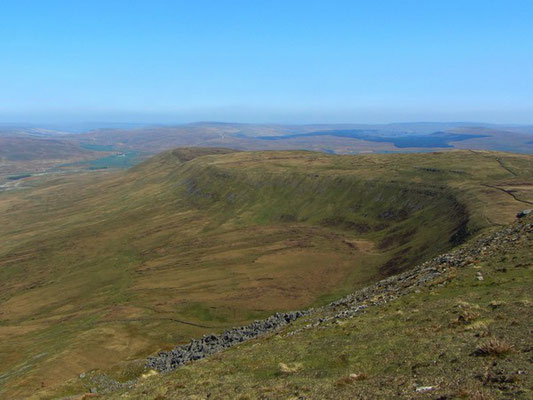 View from summit of Ingleborough