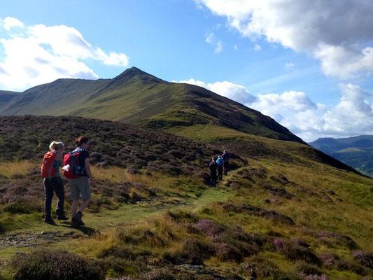 Ascent towards Ullock Pike