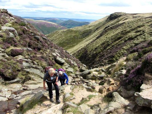 Ascent of Grindsbrook Clough