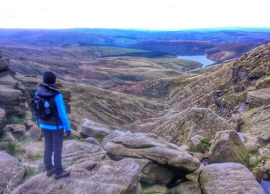View from Kinder Downfall on a guided walk