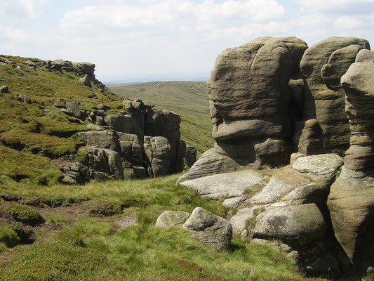 The northern edge of Kinder Scout