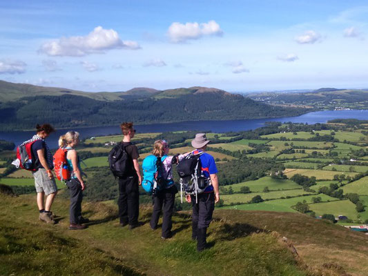 Start of the guided walk up Skiddaw