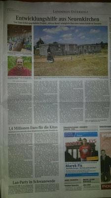 """Veröffentlicht im Lokalteil des """"Weser Kuriers"""" am 09.10.2015"""