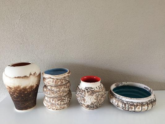 obvara techniek decoratieve vazen en schaal : € 60 - € 65