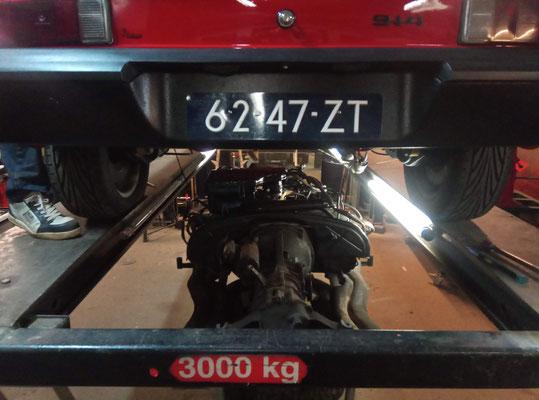 Bak & motor onder 914 !