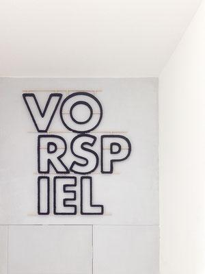 Barbara Reck-Irmler ·  Vorspiel · 2016 · Textil, Schichtholz · 79 x 91 cm
