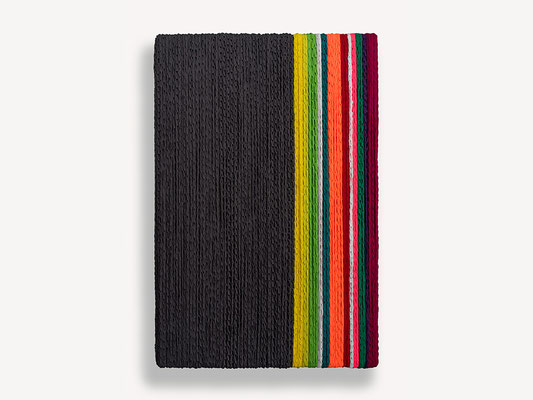 Barbara Reck-Irmler: Box Nr. 4 • 2018 • Textil, Holz • 82 x 122 x 10 cm • Privatsammlung