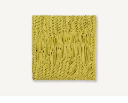 Barbara Reck-Irmler: Board 3 • 2017 • Textil, Schichtholz • 45 x 45 cm • Privatsammlung