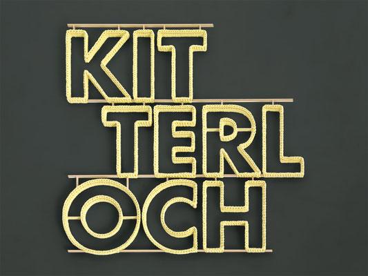 Barbara Reck-Irmler · KITTERLOCH · 2016 · Textil, Schichtholz · 100 x 92 x 2,5 cm