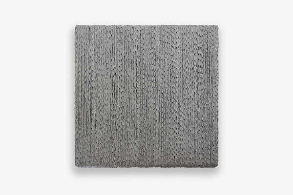 Barbara Reck-Irmler · BOX Nr. 06 · 2018 · Textil, Schichtholz · 72 x 72 x 10 cm