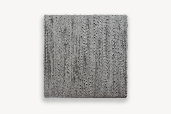 Barbara Reck-Irmler: BOX Nr. 6 · 2018 · textile, wood · 72 x 72 x 9 cm