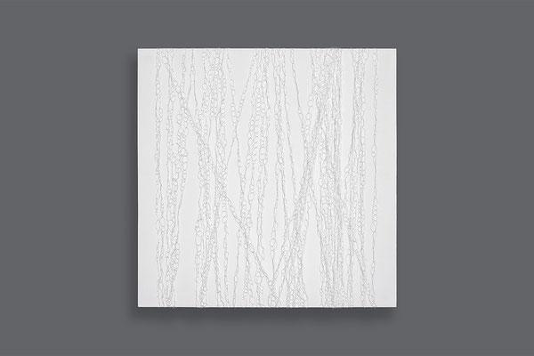 Barbara Reck-Irmler · Box Nr. 29 · 2021 · Nylonfaden, Holz · 70 x 70 x 10 cm