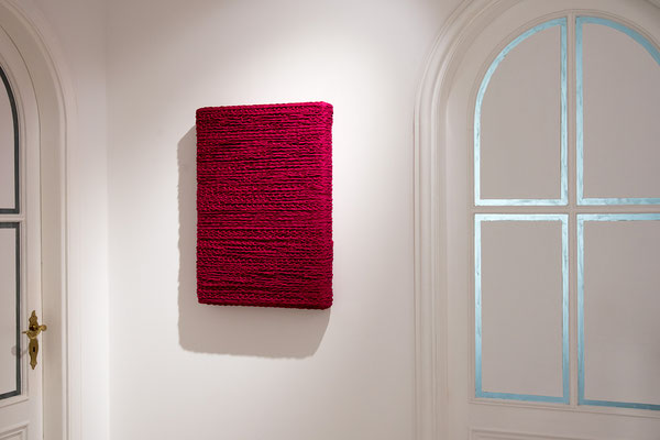 Barbara Reck-Irmler · BOX Nr. 03 · 2018 · Textil, Schichtholz · 52 x 72 x 10 cm