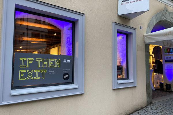 """Ausstellung """"IF THEN EXIT"""" Barbara Reck-Irmler in der Galerie 21.06, Ravensburg, 26.09. bis 11.11.2020"""