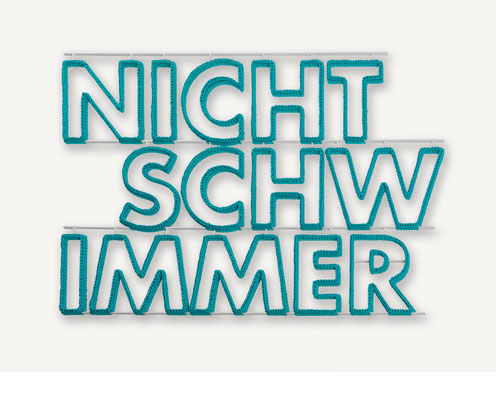 Barbara Reck-Irmler: Nichtschwimmer • 2017 • Textil, Schichtholz • 132 x 91 cm • Privatsammlung