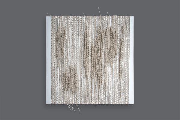 Barbara Reck-Irmler · Box Nr. 28 · 2021 · Packschnur, Holz · 70 x 70 x 10 cm