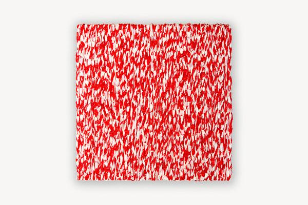 Barbara Reck-Irmler ·  Box Nr. 26 · 2020 · PE-Folie, Holz · 70 x 70 x 9 cm