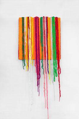 Barbara Reck-Irmler · BOX Nr. 08 · 2018 · Textil, Schichtholz · 72 x 175 x 10 cm