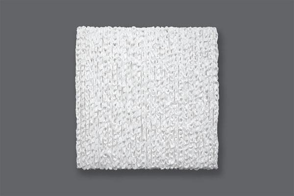 Barbara Reck-Irmler · Box Nr. 27 · 2021 · PE-Folie, Holz · 70 x 70 x 10 cm